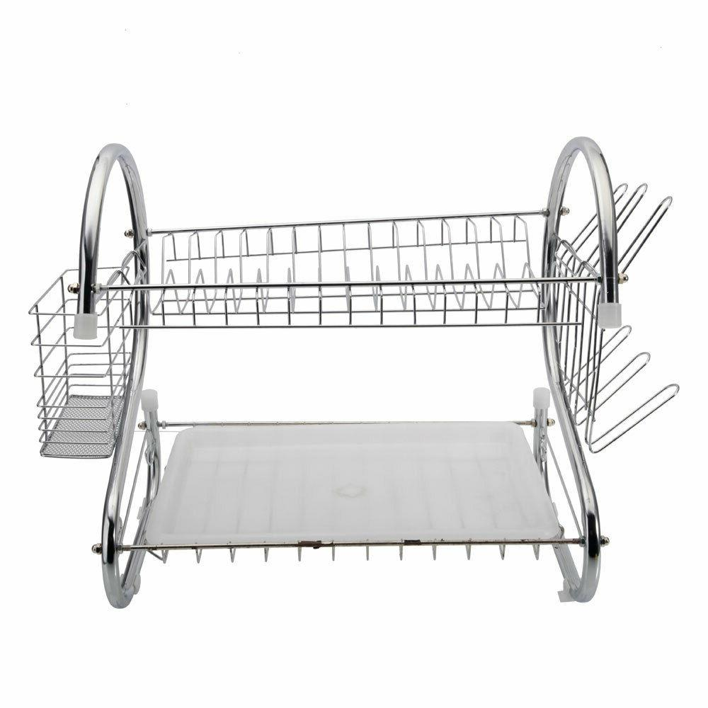 S-shaped Layers Dishes Shelf Drying Rack
