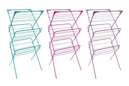new 3 tier clothes collapsible drying rack