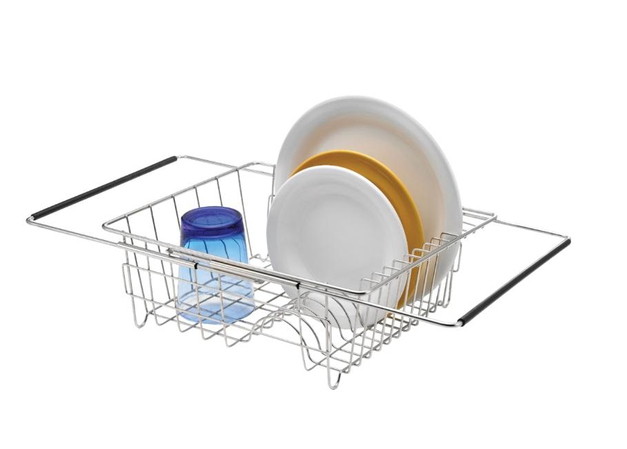 NEW D.LINE S/S EXPANDABLE IN-SINK DISH RACK 35X30X12.5CM KIT