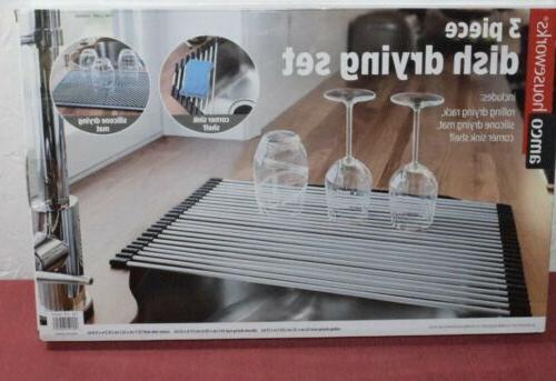 new houseworks 3 piece dish drying rack