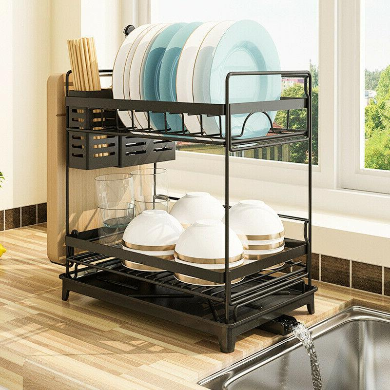 New Stainless Steel Kitchen Shelf Dish Drying Rack Storage R