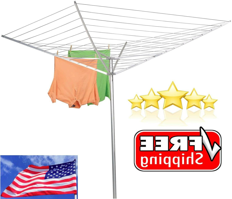outdoor clothesline dryer laundry umbrella hanger drying
