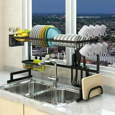 over sink dish cutlery drying rack drainer