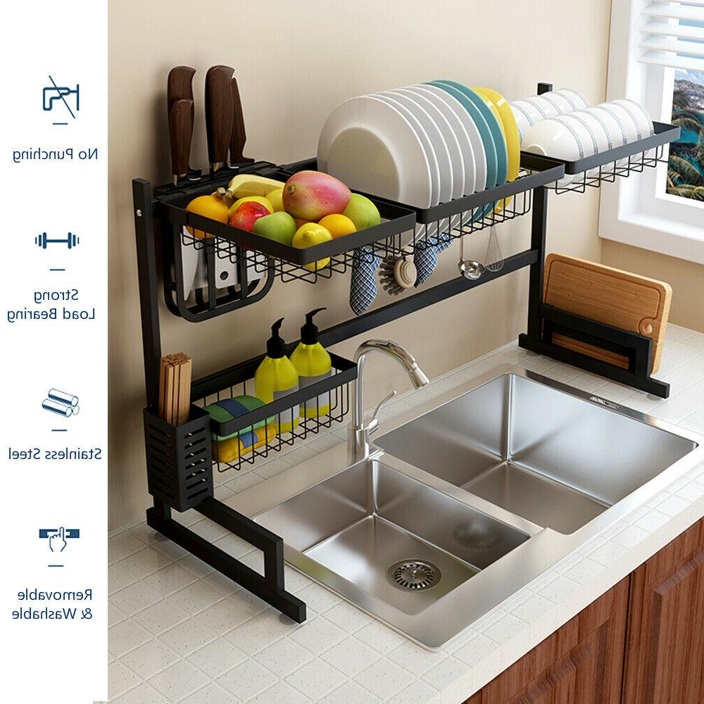 Over Sink Rack Stainless Cutlery Drainer