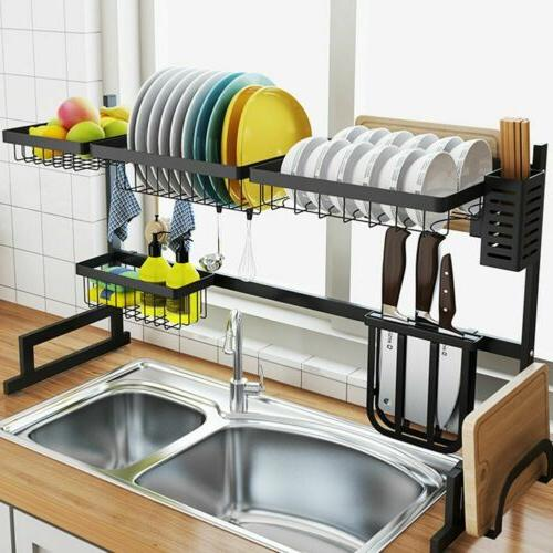 over sink dish drying rack drainer shelf