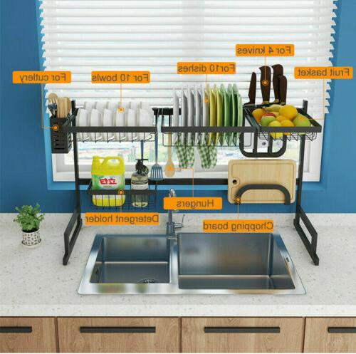 Dish Rack Sink Display Stand Drainer Holder