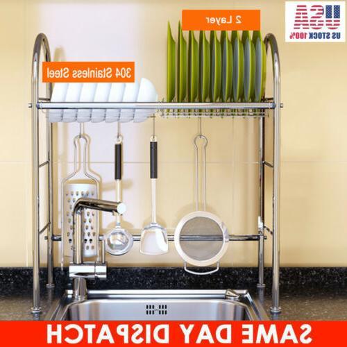 Over Dish Rack Stainless Steel Kitchen Holder
