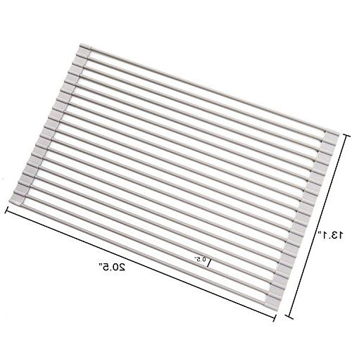 Roll-Up Dish Drying Rack over Sink, Large, 20-1/2 L x 13-1/8 H