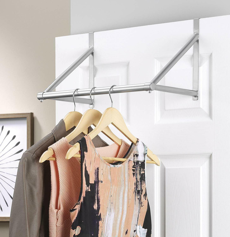 #1 The Door Closet Rod Garment Rack Dry Clothes Organizer St