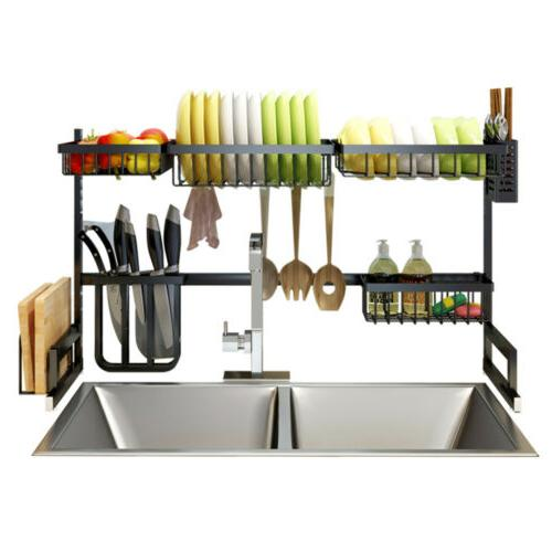 over the sink dish drying rack shelf