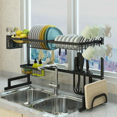 Over Sink Drying Rack Shelf Steel Cutlery 85cm