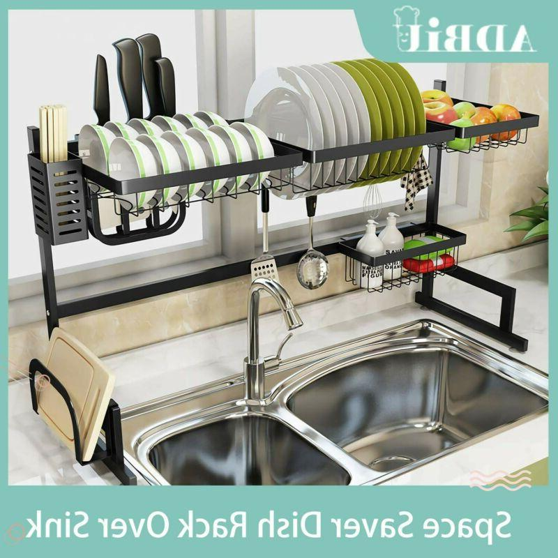 dish drying rack over sink drainer shelf