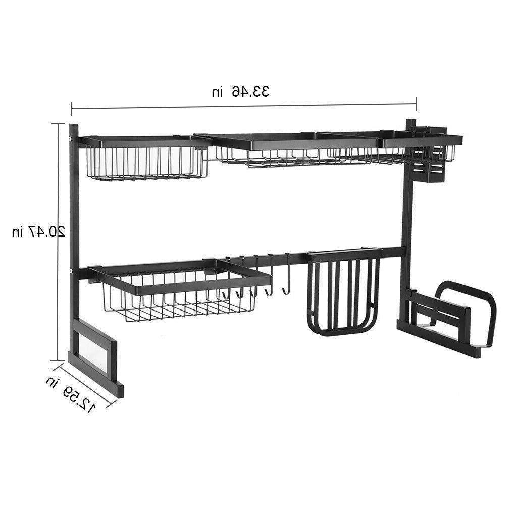 3/2 Tier Dish Drying Rack Sink Holder