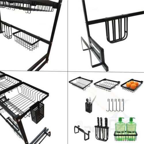 Over The Dish Drying Rack Stainless Steel Kitchen Holder 85CM