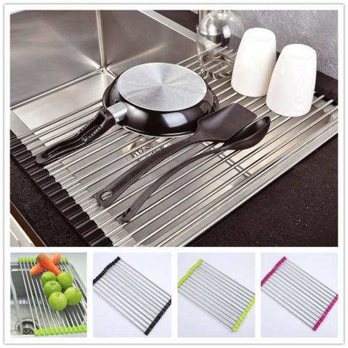 over the sink kitchen dish drainer drying