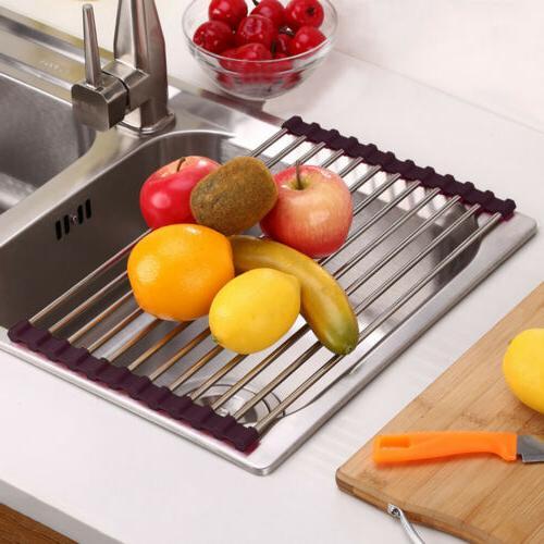Large Dish Rack Holder Kitchen Drain Board