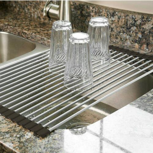 over the sink multipurpose roll up dish
