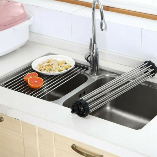 Over Sink Dish Drying Stainless Steel Mat Rims