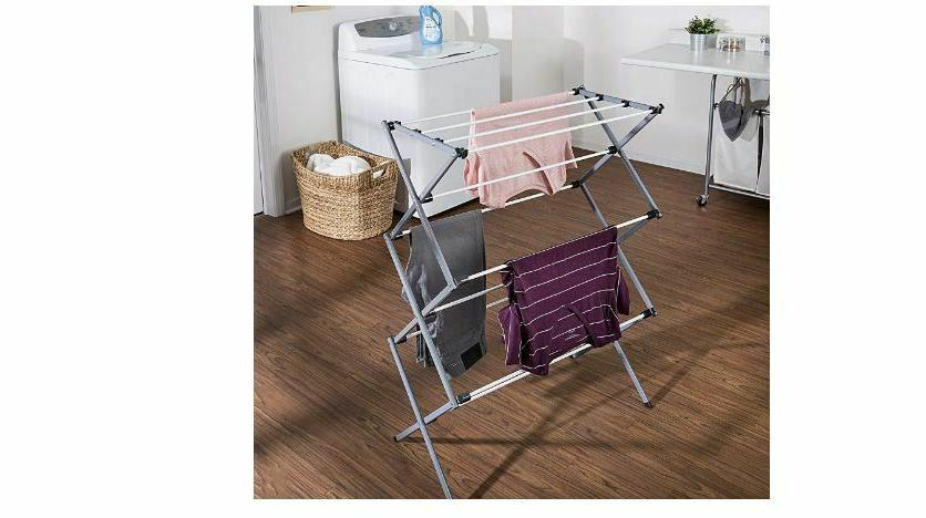 Oversize Clothes Rack Plastic Steel For