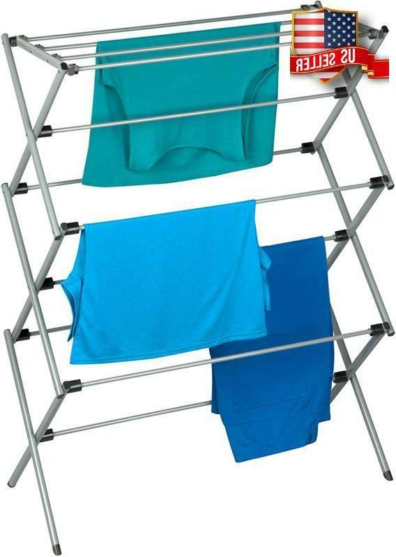 oversize folding clothes drying rack plastic