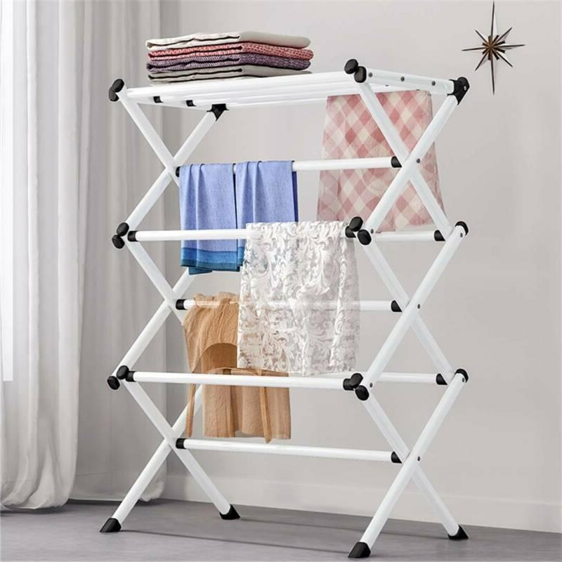 oversize folding clothes drying rack steel