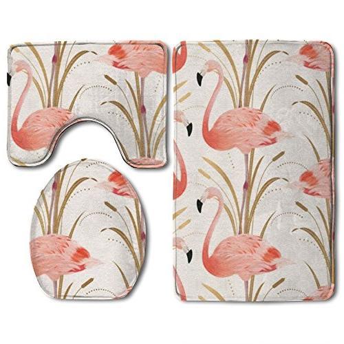 pink flamingo clipart bath mat