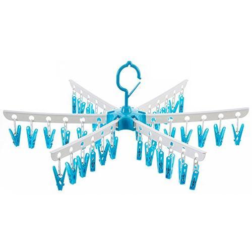 36 clips folding clotheshorse windproof