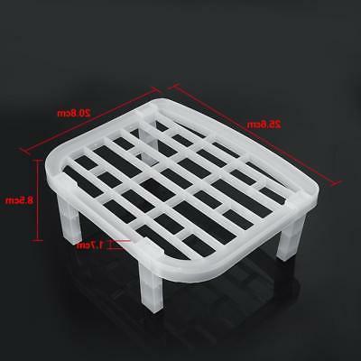 Foldable Plate Rack Drainer Plastic Storage Holder Kitchen