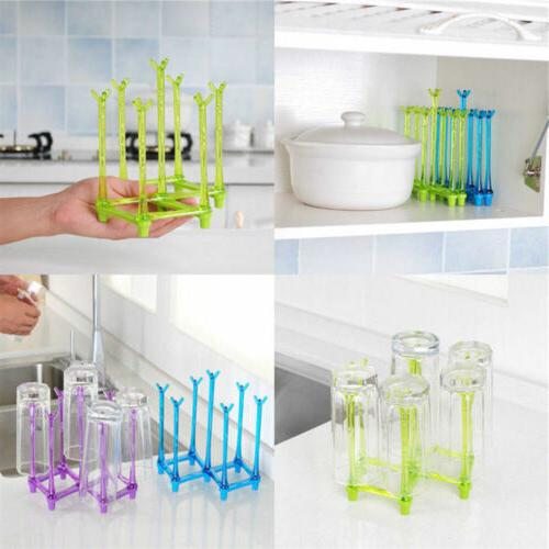 Accessories Bottle Drying Rack Storage Holder Home Sink Orga