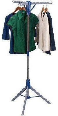 Multi Hanger Pop Up Collapsible Indoor Tripod-Style Clothes