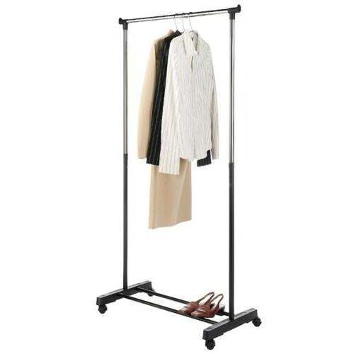 Portable Rolling Clothes Drying Rack Single Hanging Garment