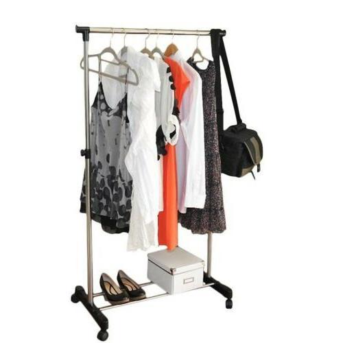 Portable Rolling Rack Single Hanging Heavy Duty Hanger