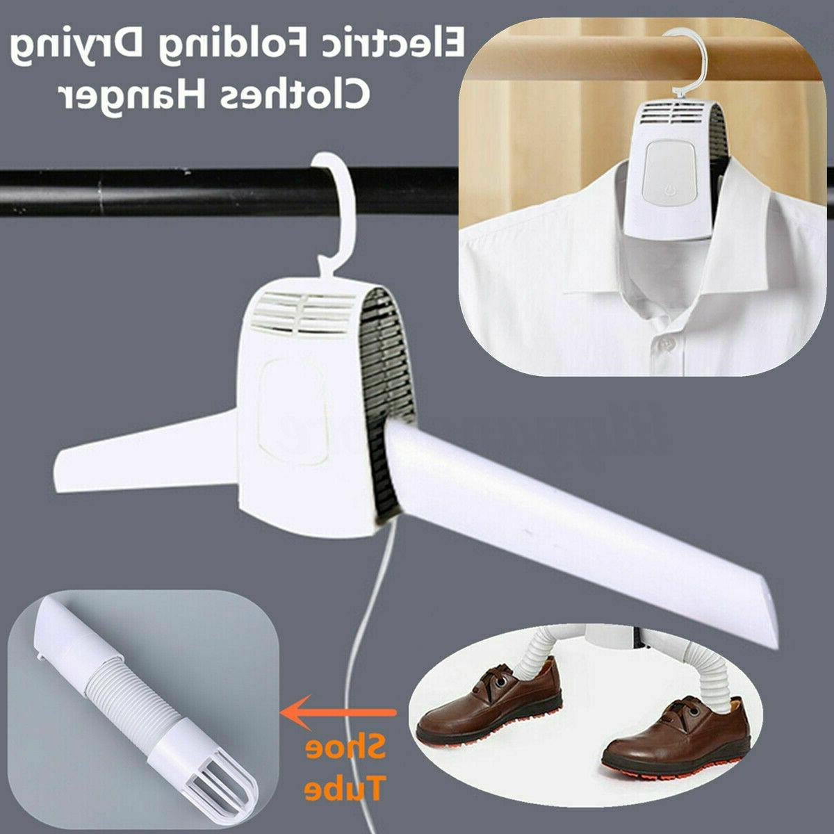 portable electric clothes drying rack dryer hanger