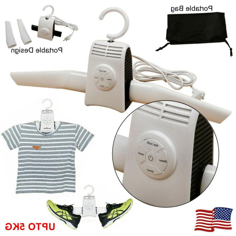 portable electric folding clothe hanger dryer drying