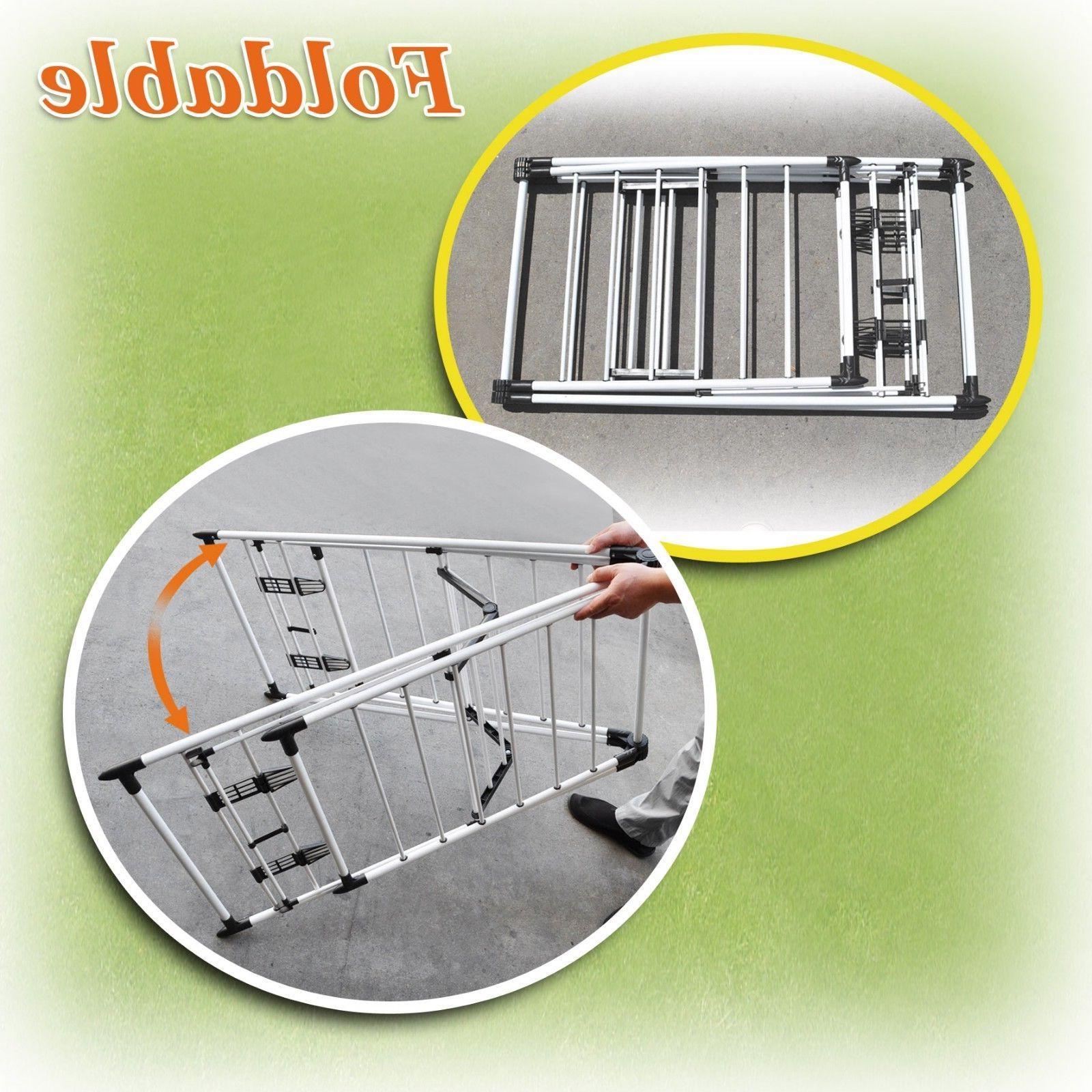 Portable Folding Drying Rack Laundry Hanger Stand Light