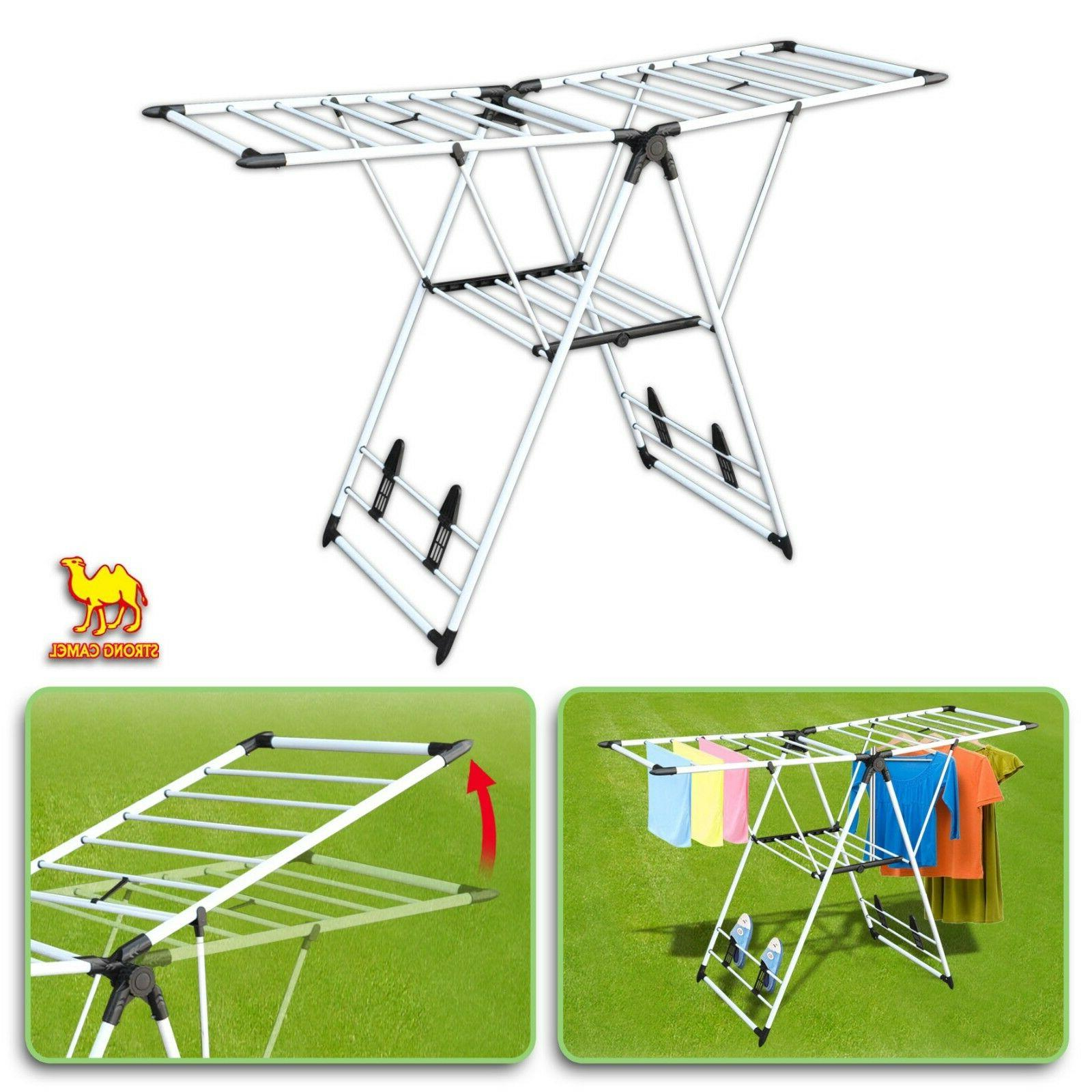 portable folding collapsible clothes drying rack laundry