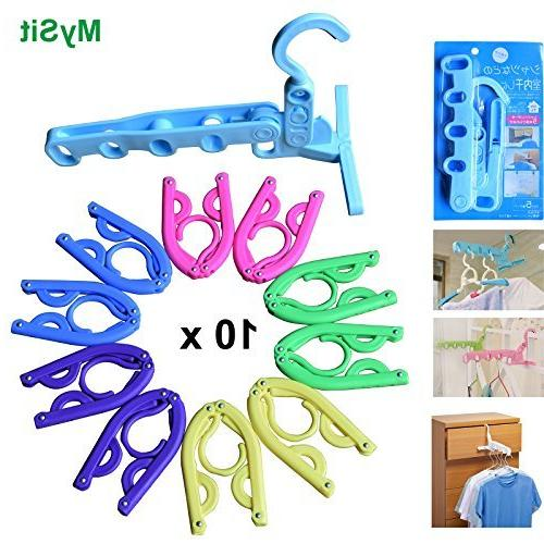 portable folding hotel hangers