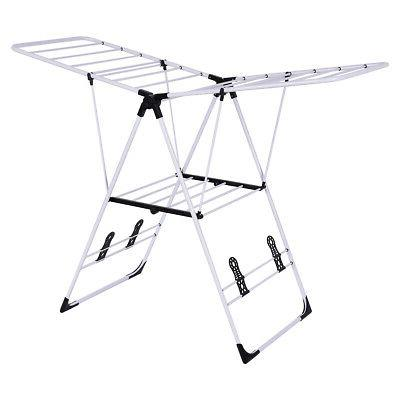 portable laundry clothes storage drying rack foldable