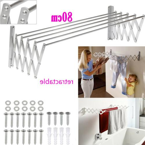 retractable wall mounted clothes drying rack laundry