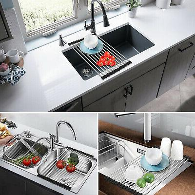 Over the Roll-Up Dish Drying Pan Bottle Food Mat