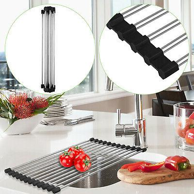 Over Roll-Up Dish Pan Drainer Mat