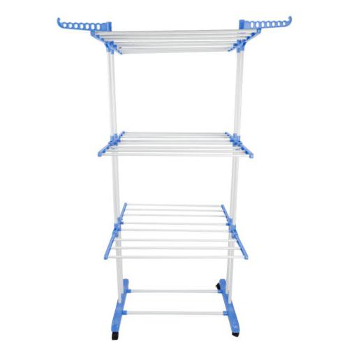 Rack with Side Wings Folding Laundry Hanger