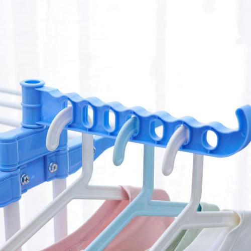 3 Tier Clothes Rack Wings Folding Laundry Hanger