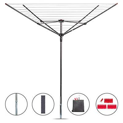 rotary outdoor umbrella drying rack collapsible 4