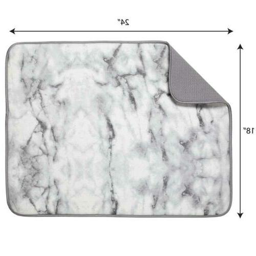 """S&T Microfiber Drying 18"""" 24"""", Marble"""