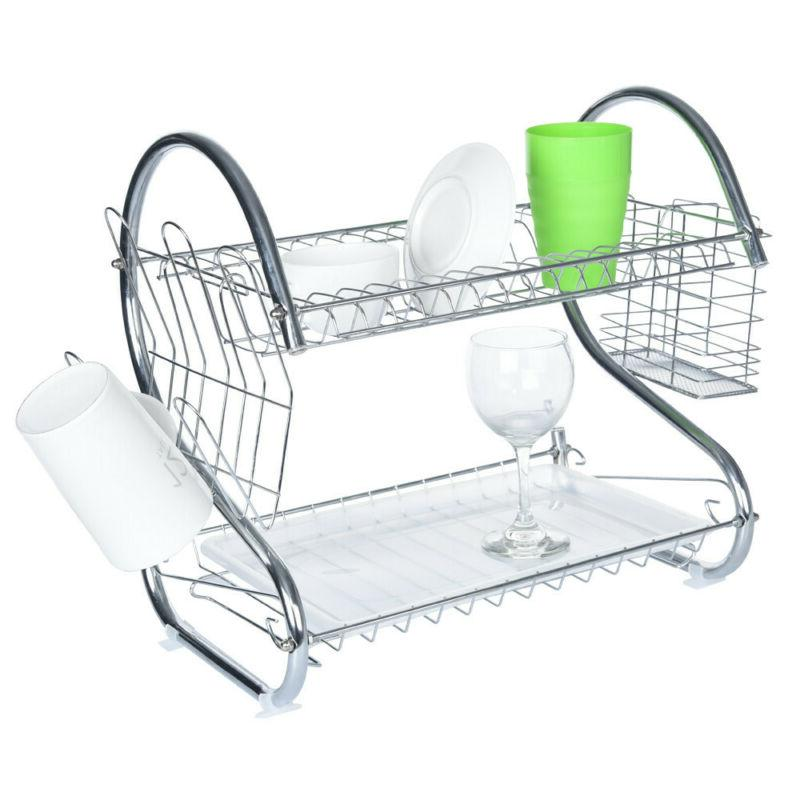 Stainless Rack Kitchen Shelf Dish Cutlery Drying Drainer