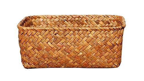 seagrass basket weaved rectangular storage