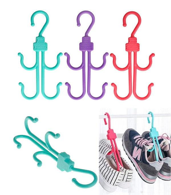 shoes drying rack hanger hook folding hanging