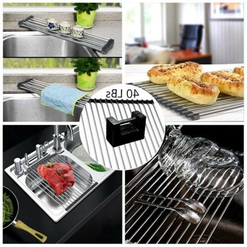 Sink Drying Kitchen Multipurpose Drainer Mat Roll-Up Heat
