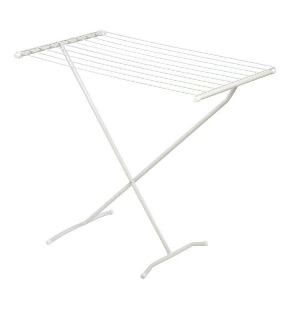 Space Saving Folding Laundry Clothes Drying Rack X-Frame Whi